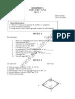 Class 5 Cbse Maths Sample Paper Model 1