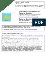 Jesus Martin Barbero Cultural Studies Questionnaire