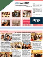 UNV Cambodia Newsletter February 2014
