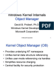 Windows Kernel Internal Object Manager