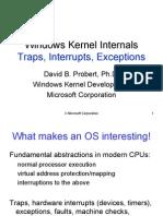 Windows Kernel Internals Traps Interrupts Exceptions