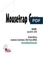 Mousetrap Car General