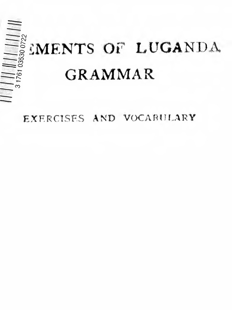 Elements of luganda grammar english language adjective ccuart Images