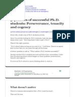 3 Qualities of Successful Ph.D