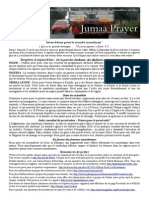 Bulletin de Jumaa Prayer 14 février 2014