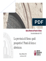 Siena_economia Reale_punti Di Forza e Debolezze_feb2014