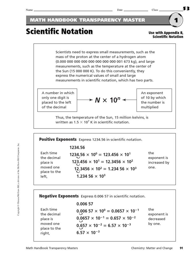 Scientific Notation Worksheets   Multiplication ...
