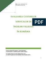 Evaluarea Costurilor Serviciilor de Ingrijiri Paliative in Romania