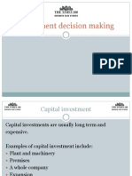 United Utilities Edition 17 Investment Decision Making
