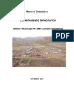 Memoria Descriptiva Levantamiento Topografico Yanaccollpa