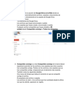 Características/funciones de google drive.