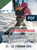 Skitouren- Festival Sonderverkauf