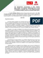 Moción IU-PSOE destinada a poner fin a las derivaciones sanitarias desde la sanidad pública a centros privados