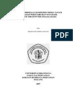 Kajian Perbedaan Komposisi Media Tanam Terhadap Pertumbuhan Jamur Tiram Putih (Pleurotus Florida)