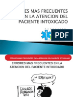 1. Errores Mas Frecuentes en La Atencion Del Paciente