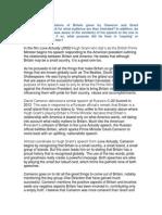 Hugh Grant and David Cameron comparative essay