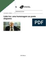 Tv Brasil - Ledo Ivo Uma Homenagem Ao Poeta Alagoano - 2013-07-17