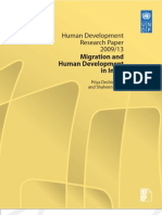 Human Development Research Paper 2009/13 Migration and Human Development In