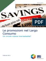 Le promozioni nel Largo Consumo. Un circolo vizioso inarrestabile?
