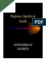 Palestra Toninho Andaimes e Plataformas de Trabalho