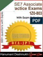 Ethunware OCA Java SE 7 Practice Exams (1Z0-803)