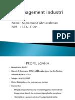 Management Industri RAHMAN