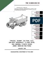 TM 5-3805-254-10 IHC F-5070 DUMP TRUCK