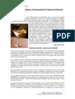 La Mixología y Gastronomía en Tendencia Molecular