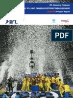 Carbon Footprint 300 Pp CB IPL 2010