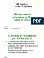 Biomechanics Serve Itf Coaching