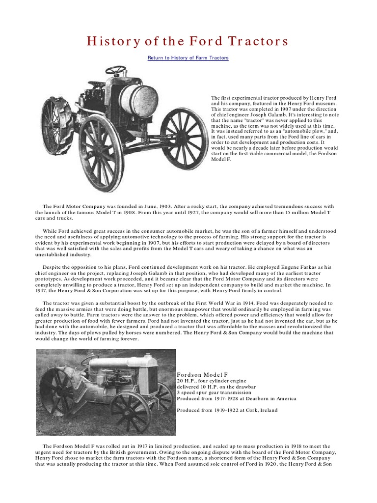 History Of The Ford Tractors Tractor Vehicles Dexta Wiring Diagram