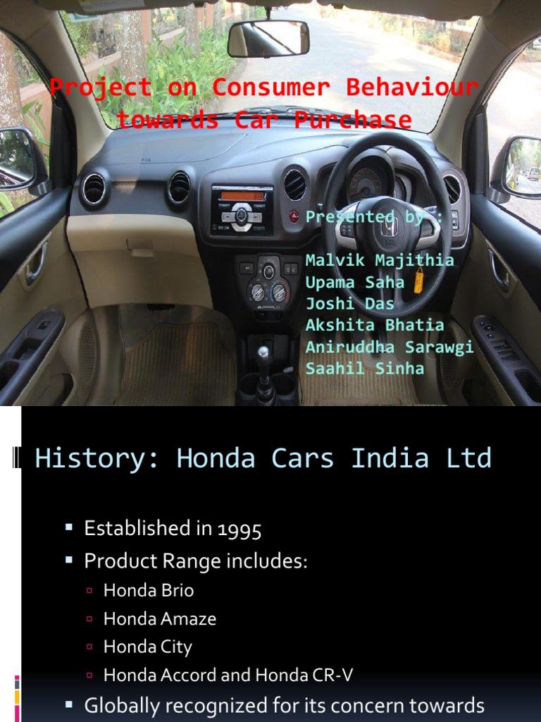 Presentation Honda Amaze Honda Compact Car