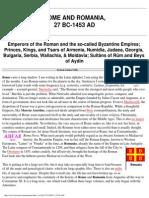 History - The Roman Empire & Byzantium