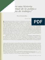 Rosanvallon. Para Una Historia Conceptual de Lo Politico