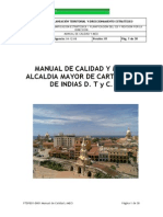 Manual de Calidad y MECI Alcaldía de Cartagena