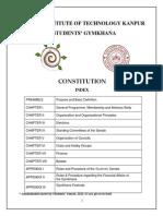 IIT Kanpur Gymkhana Constitution