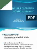 Dasar-Dasar Pengertian Evaluasi Proyek