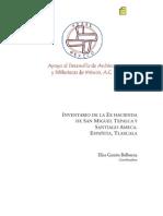 Garzon 2008. Inventario de la ex hacienda de san miguel tepalca y santiago ameca, españita tlaxcala