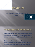 Dchairman.crash Training Course for Debate.ppt
