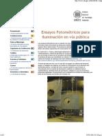INTI Ensayos Fotometricos via Publica