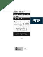 100 DINAMICAS PARA DINAMIZAR LA CLASE DE ESPAÑOL