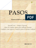 PASOS21 2010 Las Ciudades Como Espacio Creativo Para Turismo Special