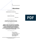 Independence Institute v. Buescher, Cato Legal Briefs