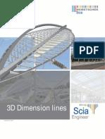 3D Dimension Lines