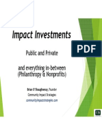 Impact Investments Presentation by Brian O'Shaughnessy