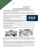Guatemala ha perdido 149 millones de toneladas de suelo fértil por erosión