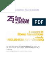 Lista de libros contra la violencia de género