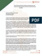 Declaración RSMLAC 2013
