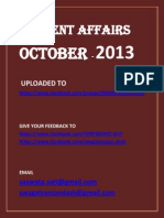 October 2013 Current Affairs