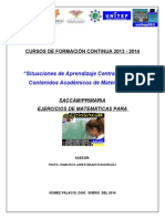 saccam PROBLEMAS DE AREA PROFRA. MARGARITA MONÁRREZ CT 2014